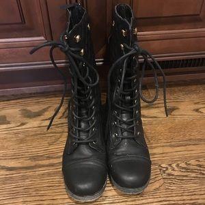 Shoe Dazzle Combat Boots